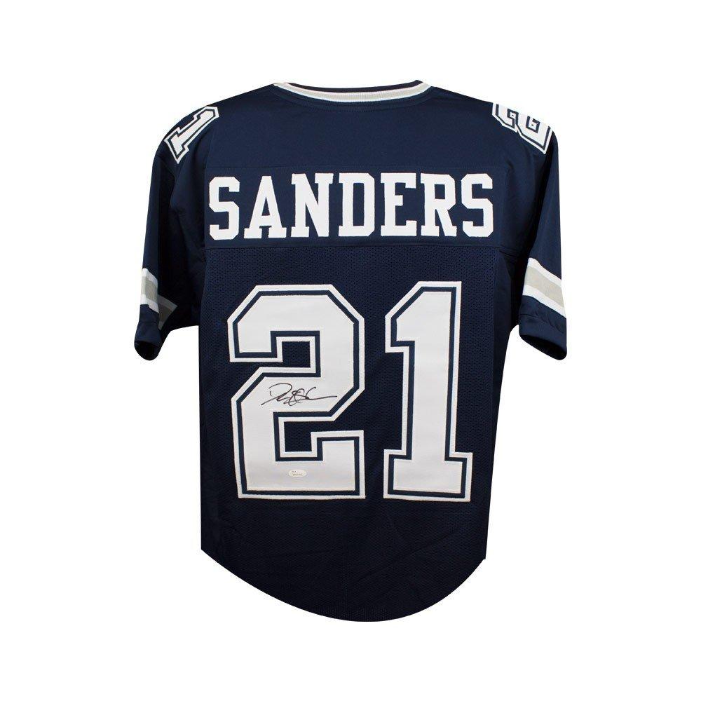 2508c378b Deion Sanders Autographed Dallas Cowboys Custom Navy Football Jersey - JSA  COA at Amazon s Sports Collectibles Store