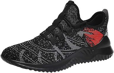 Longzjhd - Zapatillas Deportivas para Hombre y Hombre, Transpirables, para Correr, Alpinismo, Barco, Deportivas, Zapatillas de Running B-Noir 44: Amazon.es: Ropa y accesorios