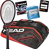 head prestige bag - HEAD Marin Cilic Tennis Racquet, Bag, String and Overgrip Bundle Pack (Grip Size 4 3/8-inch)