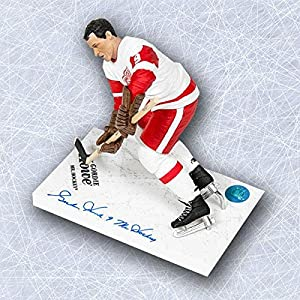 Gordie Howe Detroit Red Wings Signed White McFarlane SP with Mr Hockey Note - Autographed NHL Figurines