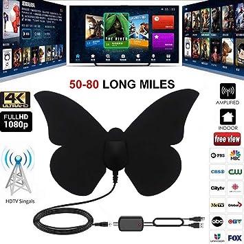 AIMERKUP -EC Cable para Antena de TV HDTV Digital Antena amplificada con Amplificador de señal Compatible con Todos los televisores Well-Liked: Amazon.es: Electrónica