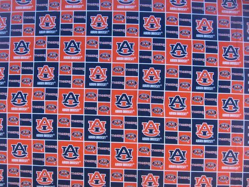 Dog Collar Bandanas CG03XL Alabama Auburn Square X-Large Dog Collar Bandana - Auburn Square