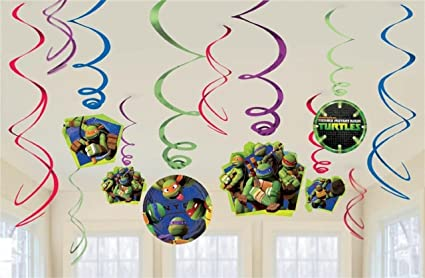 Amazon.com: Nickelodeon Ninja Turtle Dangling Swirl ...