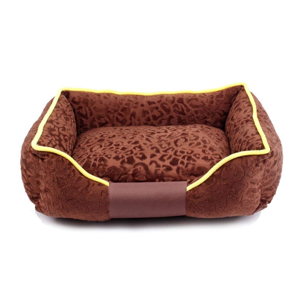Coffee M 5646cm Coffee M 5646cm C_-1X Kennel, Washable, Cat House, Pet Nest, Pet Supplies, Pet House, Small Dog, Dog Mattress, Thick, Warm,(Green, Coffee, Red, Purple) (color   Coffee, Size   M 56  46cm)