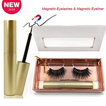 7389c45d00c [2019 Newest] Magnetic Eyeliner Kit with Magnetic False Eyelashes Set,  Waterproof Magnetic Lashliner