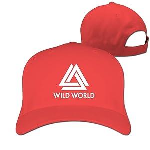 Adult Bastille Wildworld Cotton Adjustable Peaked Baseball Cap Red