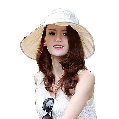 Gorros Sombrero para El Sol Mujer Verano Gorros De ala Fácil De ...