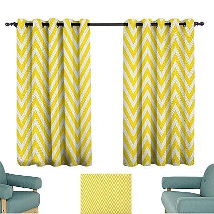 Marvelous Amazon Com Yellow Chevron Kids Decor Indo Curtain Drape Machost Co Dining Chair Design Ideas Machostcouk