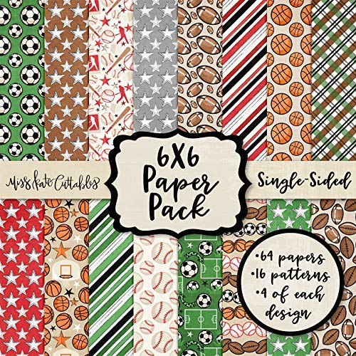 6X6 Pattern Paper Pack - Sports Life - Card Making Scrapbook Specialty Paper Single-Sided 6