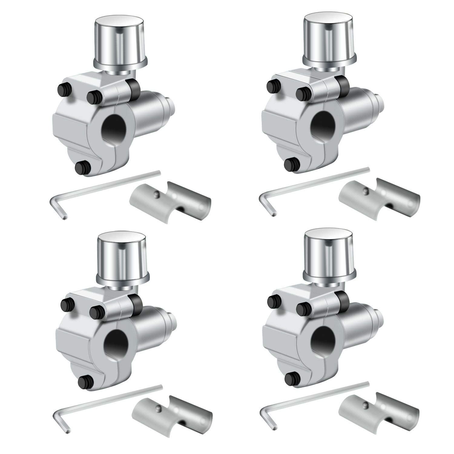 "Trounistro 4 Pack BPV-31 Bullet Piercing Valve Line Tap Valve Kits Adjustable Valve for Air Conditioners HVAC 1/4"", 5/16"", 3/8"" Tubing"