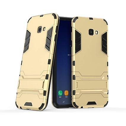 Amazon.com: Galaxy J4+ Plus 2018 Case: DINGXIN 2 in 1 Hybrid ...