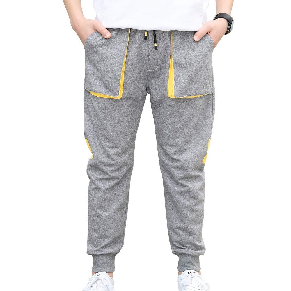CNMUDONSI Boys Sweatpants Elastic Bottom Large Youth Casual Clothing Jogging Pants 8-16