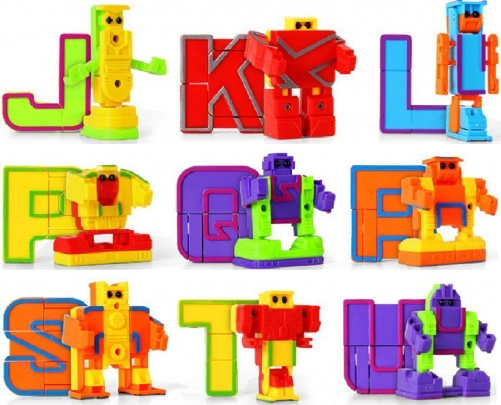 Education Toy School Classroom Mallya Learning Toys-Alphabet Robot for Preschool Toddler Kids ABC Learning,Birthday Party