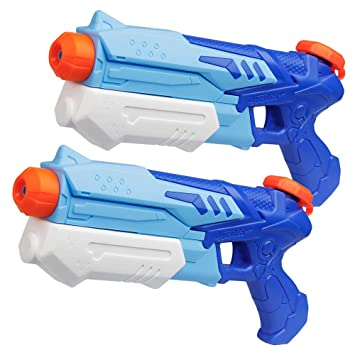 D-FantiX Water Guns 2 Pack, Super Water Blaster Soaker Squirt Guns High Capacity Summer Swimming Pool Beach Party Favors Water Outdoor Fighting Toy ...