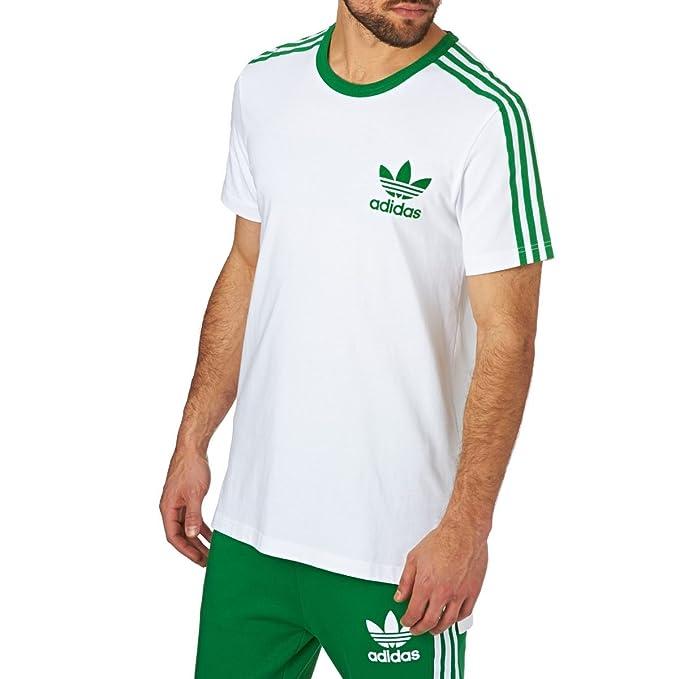 adidas Originals Camiseta - Para Hombre Blanco Blanco 2XL: Amazon.es: Ropa y accesorios