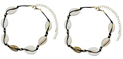 331e119f24d75 Bienvenu 2 Piece White Ankle Bracelet Crochet Anklets Barefoot Sandals Foot  Jewelry