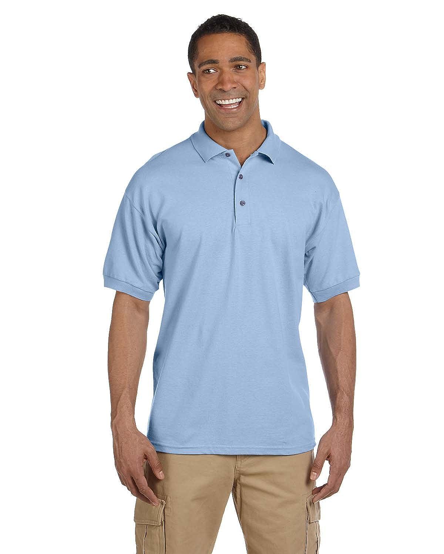Harriton Men's 6 oz Ringspun Cotton Pique Short-Sleeve Polo, Red