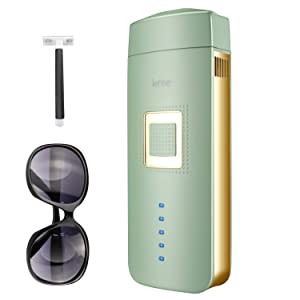 IPL Hair Removal for Women and Men Painless Permanent Hair Removal Device At-Home Laser Hair Remover for Facial Whole Body, Upgrade to Unlimited Flashes(Needn't Extra Replacement Cartridge) (Green)
