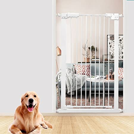 barrera seguridad Puerta Para Mascotas Extra Alta Para Perros Gatos Barrera Para Bebés Extra Ancha Para