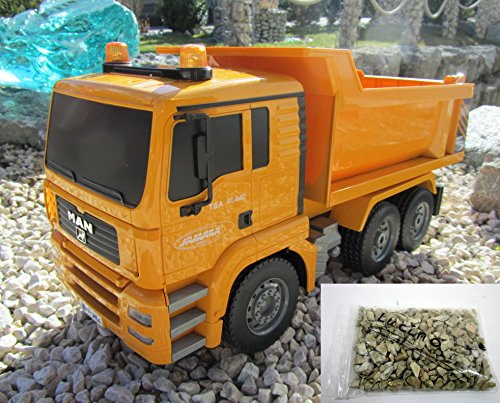 RC Muldenkipper LKW MAN 1:20 Länge 36cm Lizenz Modell inklusive Kiesbeutel 405002