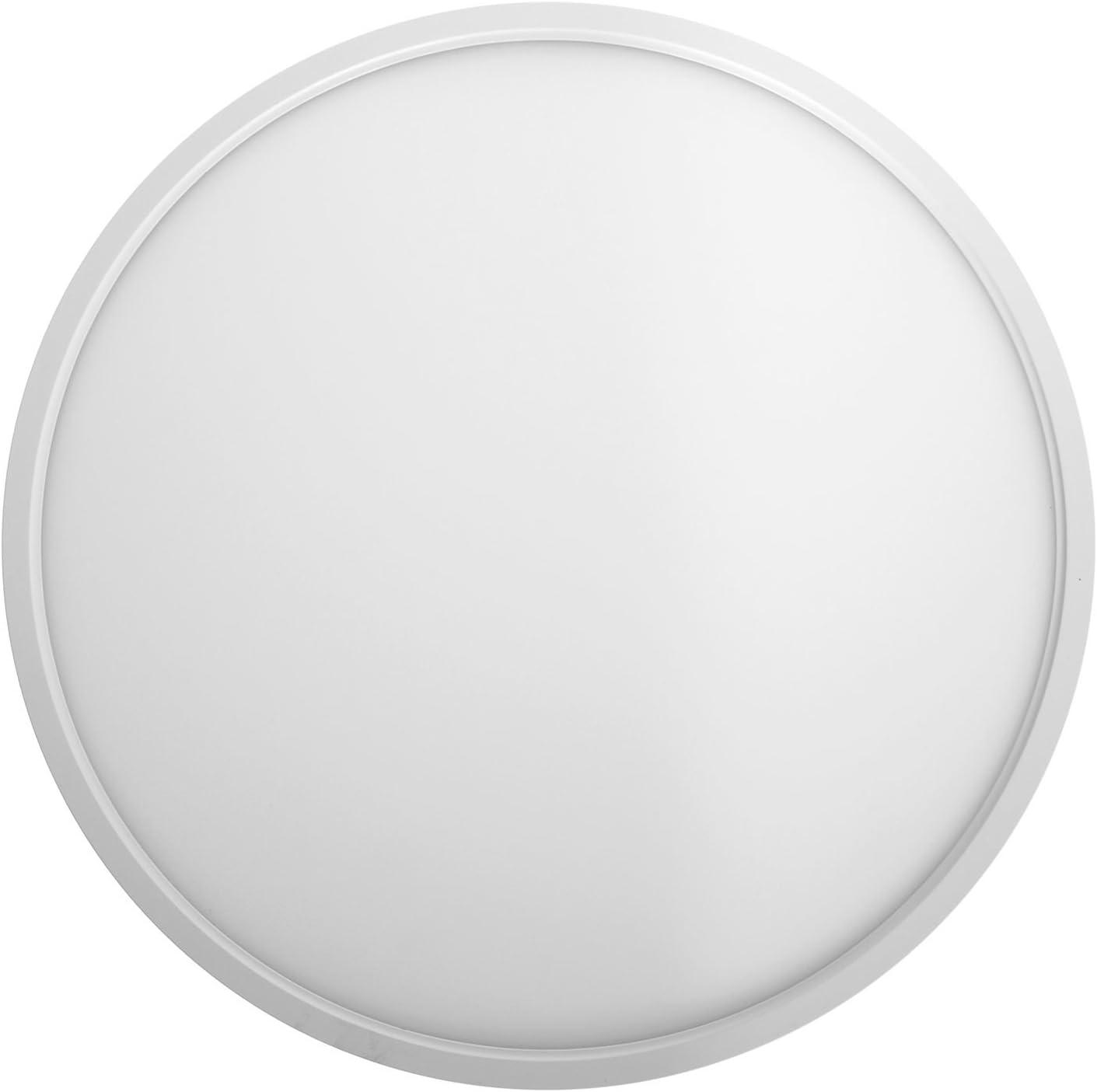 Lámpara de techo Taloya Moon 36W, de plástico, color blanco, luz blanca diurna