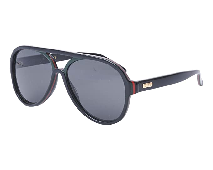 71d5f3014e0 Gucci GG0270S 002 Black GG0270S Pilot Sunglasses Lens Category 3 Size 57mm   Gucci  Amazon.co.uk  Clothing