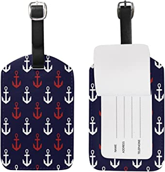 2 Pack Luggage Tags Anchors Baggage Tag For Travel Tags Accessories