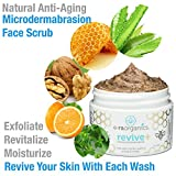Microdermabrasion Face Scrub & Facial Mask in One- Manuka Honey Walnut Natural Face Exfoliator for Dull or Dry Skin, Wrinkles, Blemishes, Acne Scars & More. Exfoliate, Moisturize & Renew Your Skin.