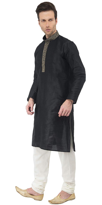 4326568a4144 Amazon.com  Kurta Pajama Long Sleeve Button Down Shirt Pyjama Set Indian  Wedding Party Dress for Men  Clothing