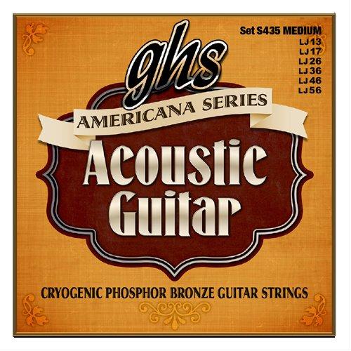 Ghs Phosphor Bronze Acoustic Guitar - GHS Strings GHS Americana Series Acoustic Strings, Cryogenically Treated Phosphor Bronze Set, Medium - (012-054) (S435)