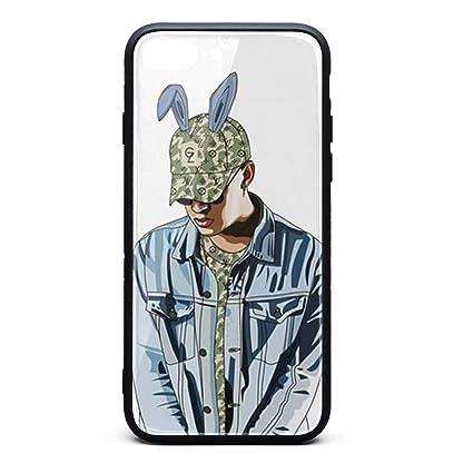 best service dd5b0 c4156 Amazon.com: iPhone 7 Plus/iPhone 8 Plus Case Bad-Bunny-Art-Drawing ...