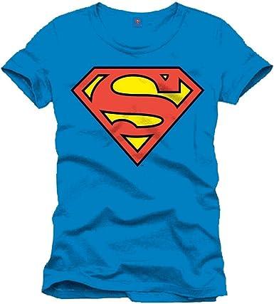 Superman Logo Classique Camiseta para Hombre: Amazon.es: Ropa y accesorios