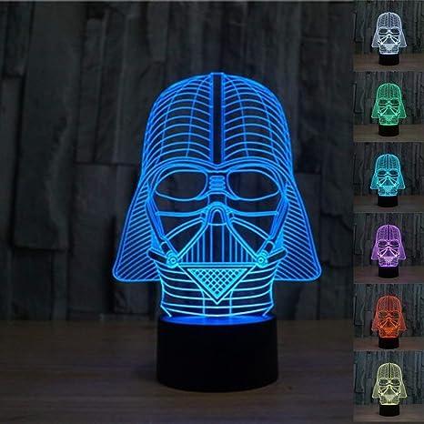 3D Star Wars Darth Vader LED Lámpara de mesa Luz nocturna ...