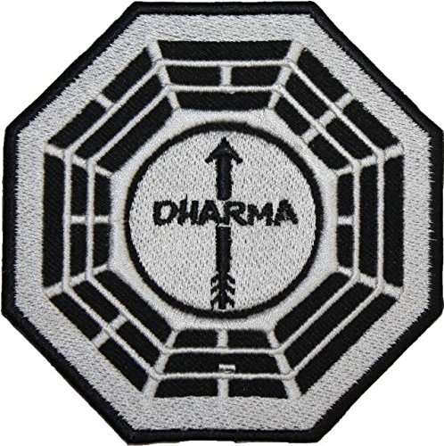 LOST DHARMA The Arrow Station EMBROIDERED PATCH Badge Iron-on, Sew On ()