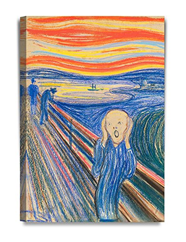 DecorArts - The Scream by Edvard Munch, Giclee Canvas Print Reproductions for Home Wall Decor. 20x30