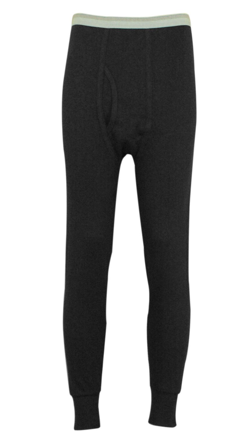 Indera Men's Icetex Cotton Outside/Fleeced Polyester with Silvadur Inside Pant, Black, Small