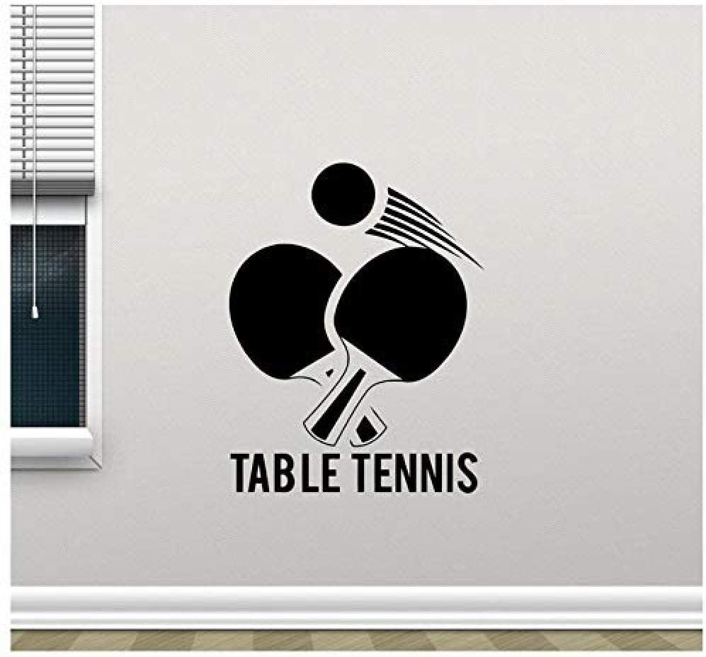 Table Tennis Wall Sticker Ping Pong Sport Vinyl Decal Mural Removable Wall Glass Decor Poster Autoadhesivo Wallpaper57x73cm
