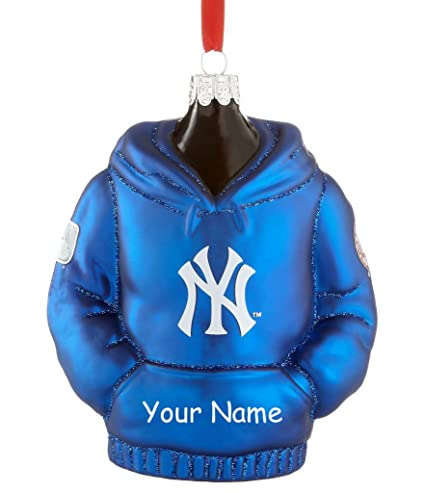 Personalized Officially Licensed MLB New York Yankees Glittered Hoodie Christmas  Ornament with Name - Amazon.com: Personalized Officially Licensed MLB New York Yankees