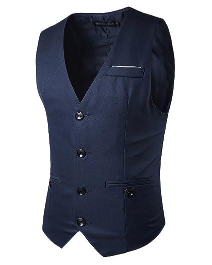 Mariage Blazer Manches Fit Mode Veste Homme Business Sans Gilet Jolime Costume Elégant Slim tXgv6q