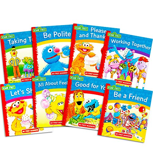 Sesame Street Elmo Manners Books For Kids Toddlers -- Set of 8 Manners Books]()