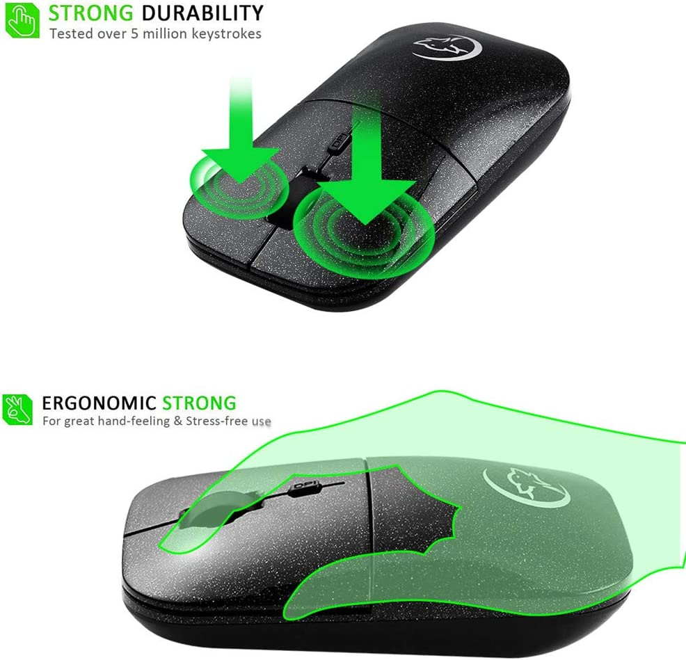 Thepass Computer Mouse,Wired Gaming Mouse Ergonomic Design 6800 DPI 7Gears Optical Mice,Ideal for Work Study