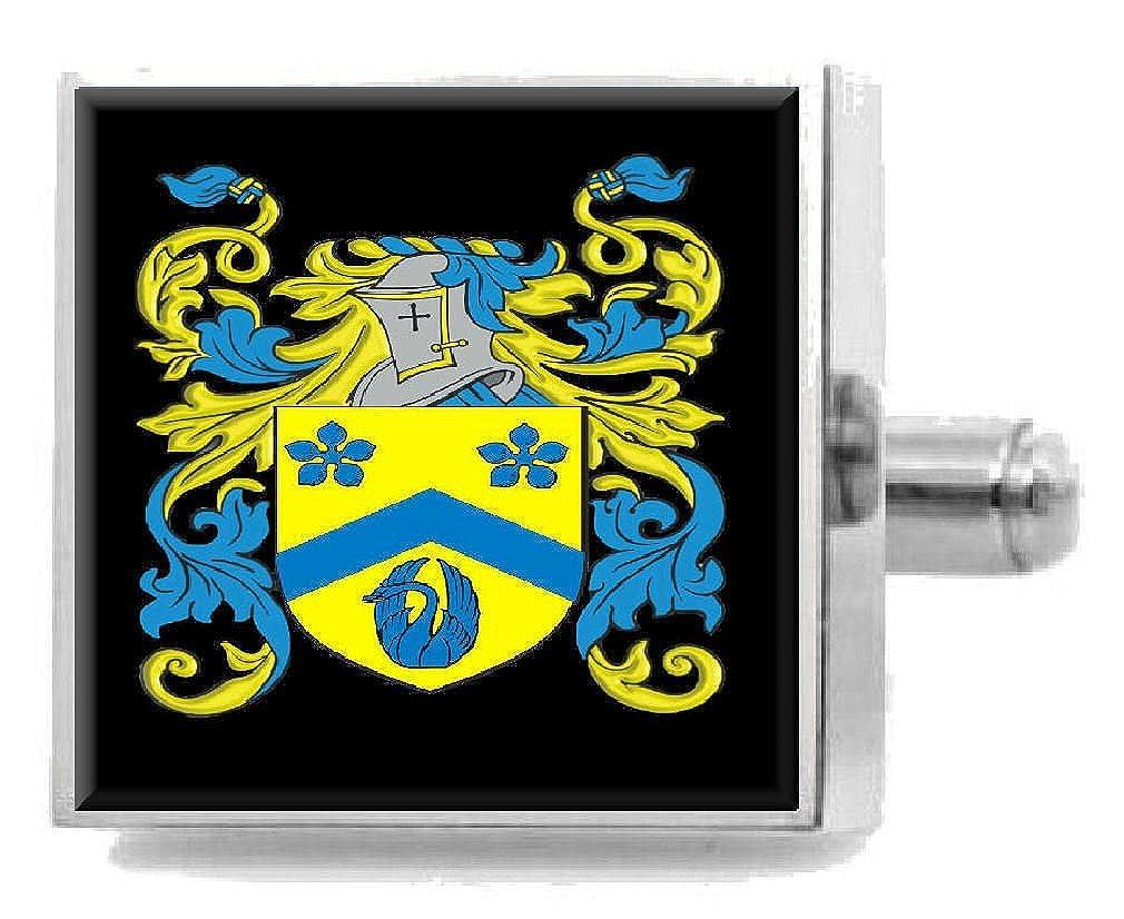 ギフト選択O 'flynnアイルランド家紋Surnameの国章Cufflinks Personalisedケース   B07FDMH7KB