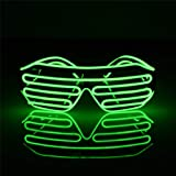 JYYC Blinkende EL Draht führte Gläser leuchtende Partei dekorative Beleuchtung klassische Geschenk helle Licht Festival Geschenk Glow Rave Kostüm
