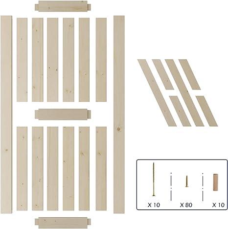 SmartStandard - Puerta corrediza de madera de granero de 36 ...