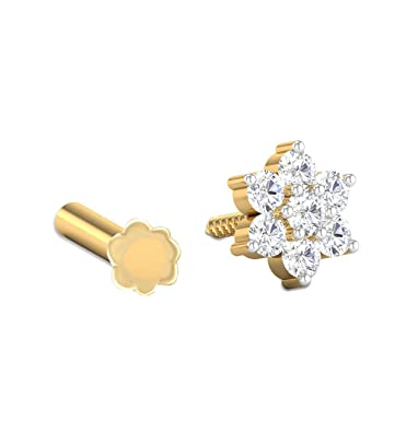 Buy Bfc Stylish Gold And Silver And Diamond Nose Pin For Women At Amazon In