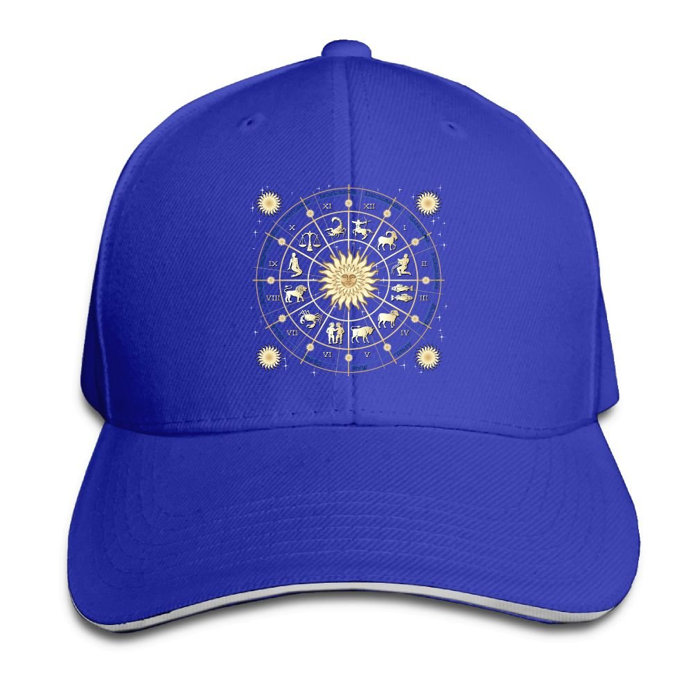 Unisex Sandwich Peaked Cap Cool Constellation Art Love Adjustable Cotton Baseball Caps