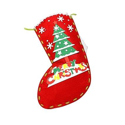 lulalula Navidad DIY hecho a mano calcetines niños bolsa de regalo bolsa de tela para colgar
