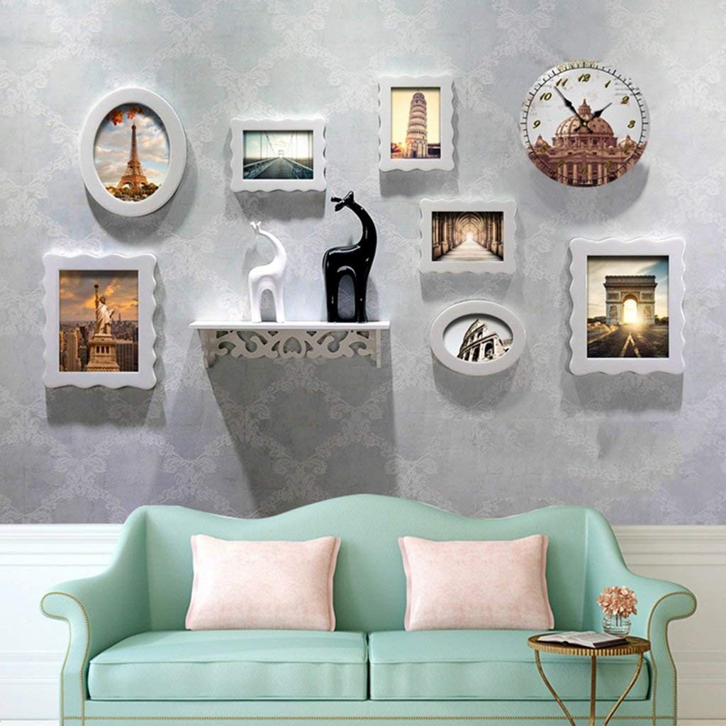 Der Photo Wall Dining Room Living Room Racks Wall Aisle Wall Combination Decorative Wall Home Decoration (Color : D)