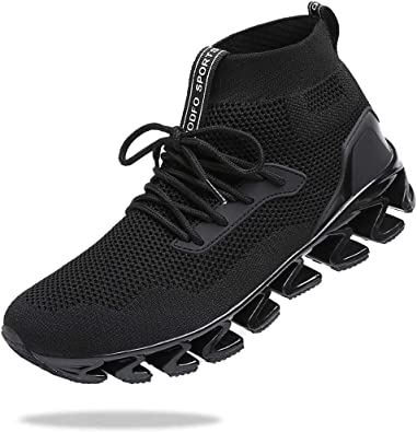 TSIODFO Men Sport Running Sneakers Athletic Walking Tennis Shoes