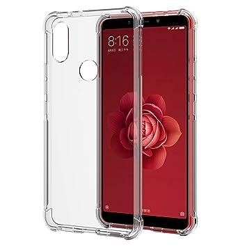 SPARIN [2 Unidades] Funda Xiaomi Mi A2, Carcasa Xiaomi Mi A2 TPU Transparente [contra Arañazos] [Anti-Golpe] [Ajuste Xiaomi Mi A2
